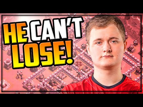 HE CAN'T LOSE! CRAZY 300 IQ Attacks In Clash Of Clans!