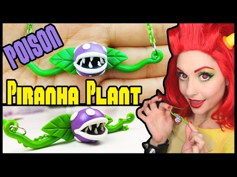 DIY POISON PIRANHA PLANT NECKLACE Polymer Clay Tutorial