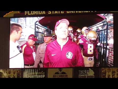MOST EPIC COLLEGE FOOTBALL ENTRANCE IN THE WORLD!  FSU VS.  CLEMSON 2016