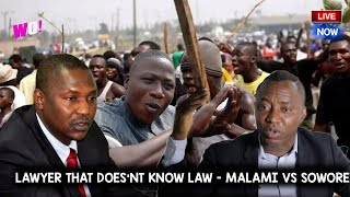 IGBOHO MALAMI VS SOWORE - MALAMI IS THE W0RT ATTONEY GENERAL IN NIGERIA - AGRY YOUTH ATTCK AFT
