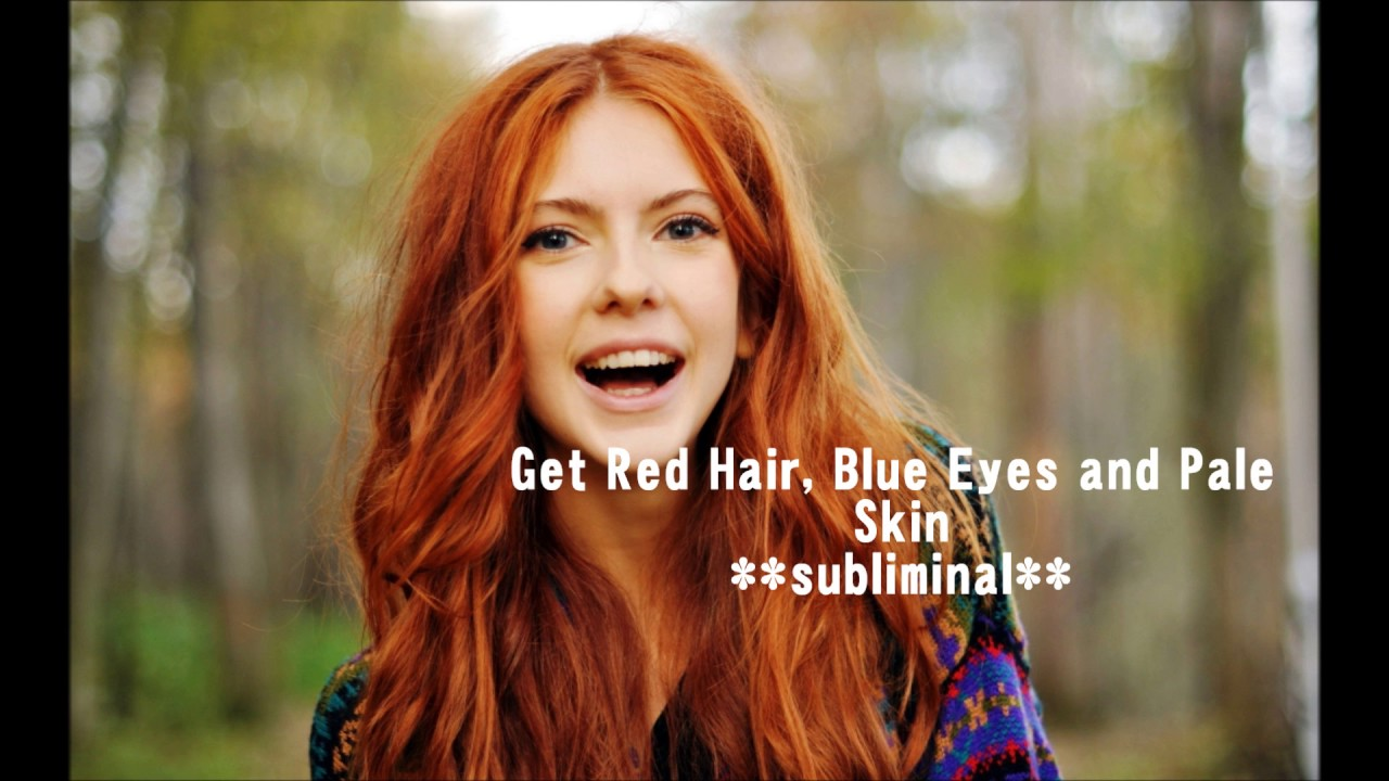 red hair blue eyes and pale