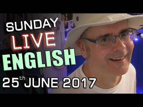 Learn English LIVE lesson - Sunday Chat - 25th June 2017 - nouns that can be verbs - Mr Duncan