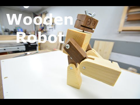 Woodworking project - WillyWalnut the robot
