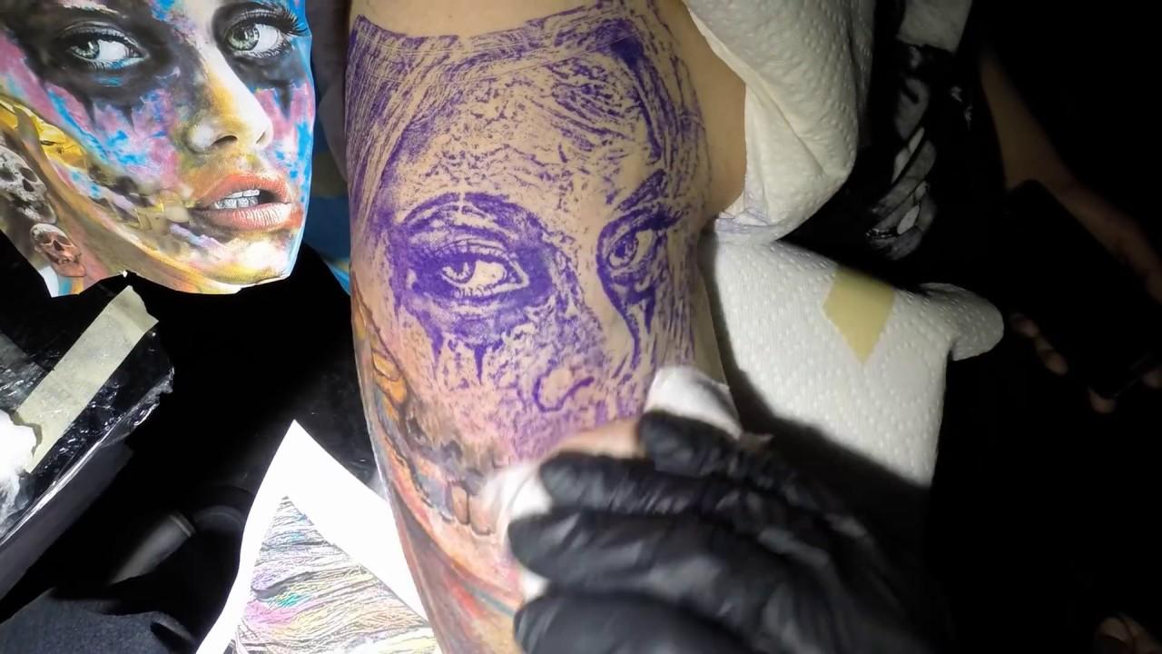 How To Tattoo Dia De Los Muertos How To Color Tattoo How To Tattoo Tv