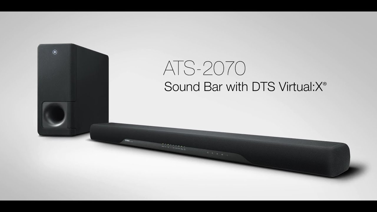 yamaha sound bar ats 2070 sleek dynamic wireless. Black Bedroom Furniture Sets. Home Design Ideas
