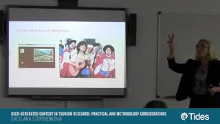 SeminariosTides: USER-GENERATED CONTENT IN TOURISM RESEARCH