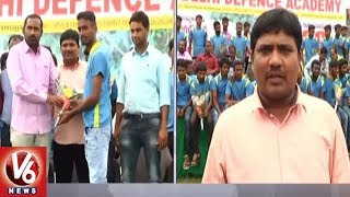 Students Of Delhi Defence Academy Selected For Army Recruitment In Karimnagar | V6 News