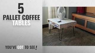 Top 10 Pallet Coffee Tables [2018]: Pallet wood Coffee Table