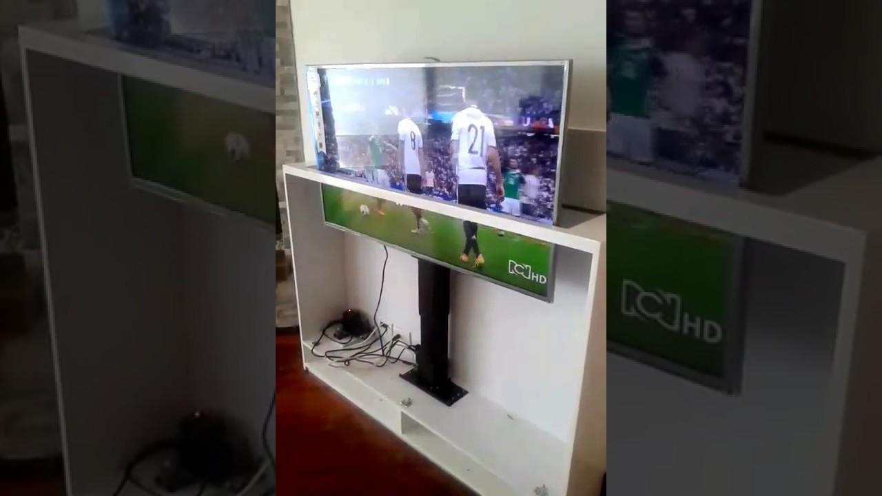 Ascensor tipo mueble para tv de 55 casamecanica youtube for Muebles para smart tv 55