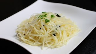 Spicy And Sour Shredded Potato / Vegetarian Recipe / Chinese Food / 蒜香酸辣土豆絲