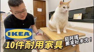 【IKEA十件耐用家具!陪阿瑪搬家好多次!】志銘與狸貓