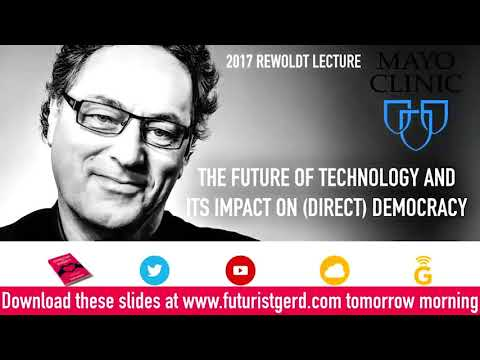 2017 Rewoldt Lecture with Gerd Leonhard: The Future of Technology and Its Impact on Direct Democracy