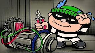 ВОРИШКА БОБ мультик игра для детей ГРАБИТЕЛЬ БОБ ограбил дом и казино #1 развлекательное видео
