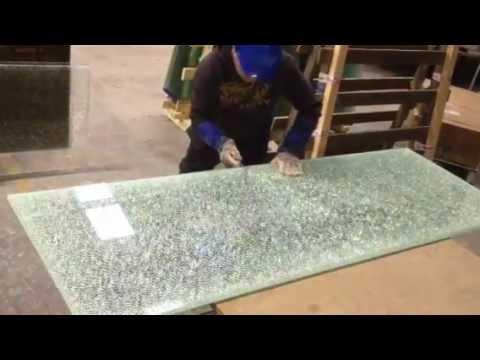 Cracked Ice Glass