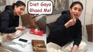 Kareena Kapoor FUNNY Video Eating Cake On CHEAT Day