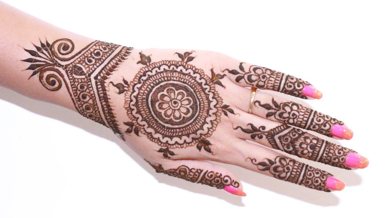 Mehndi Hands With Watch : Best bridal henna design step by description