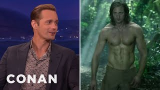 Alexander Skarsgard's Insane Diet To Get Jacked As Tarzan  - CONAN on TBS by : Team Coco