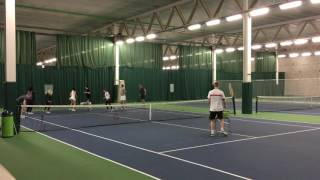 Andy Hill Cardio Tennis Side step warm up
