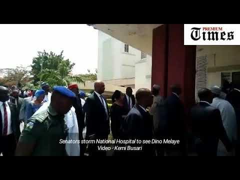 Senators storm National Hospital to see Dino Melaye