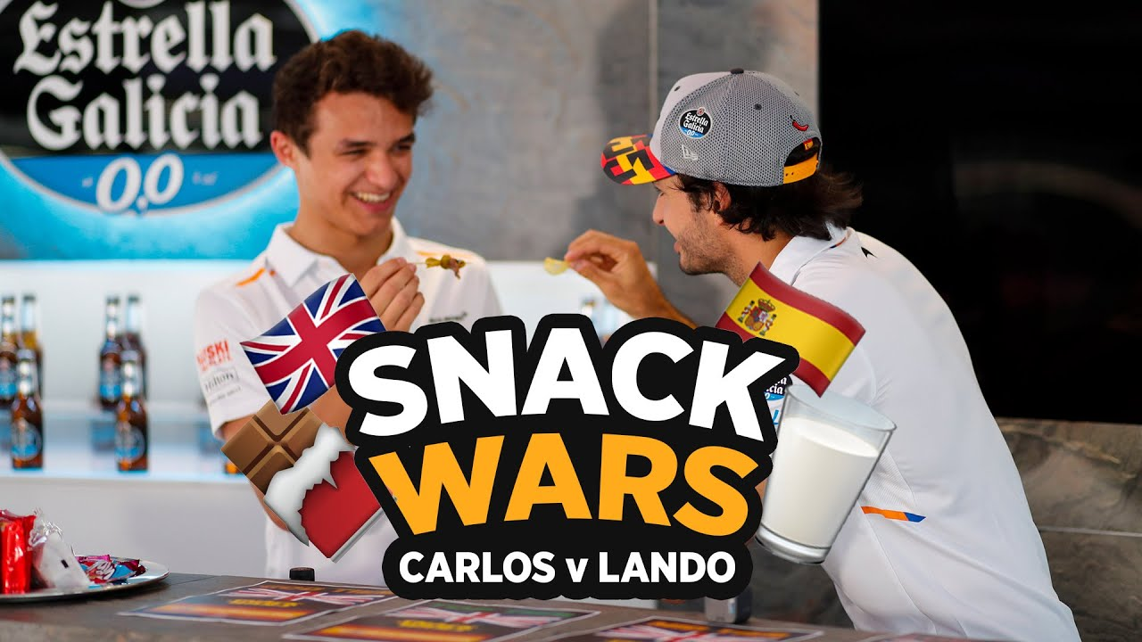 Carlos Sainz and Lando Norris play 'Snack Wars' - Motor Informed