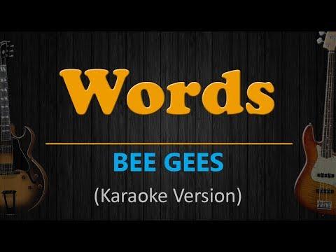 WORDS - Bee Gees (HD Karaoke)