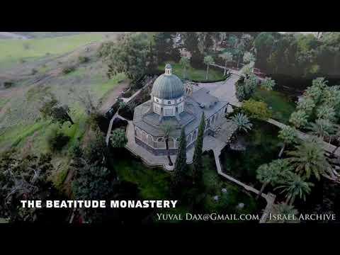 The Beatitude Monastery Aerial 4K / כנסיית הר האושר