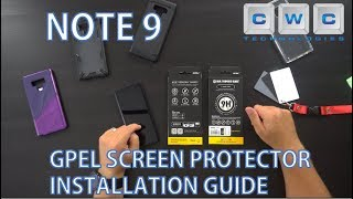 Samsung Note 9 GPEL Glass Screen Protector Installation Guide