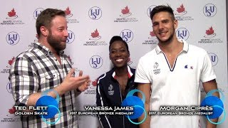 2017 Golden Skate Interview with Vanessa James and Morgan Ciprès