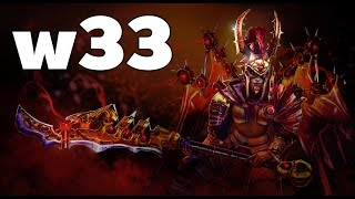 w33 Legion Commander Mid Rank MMR Game