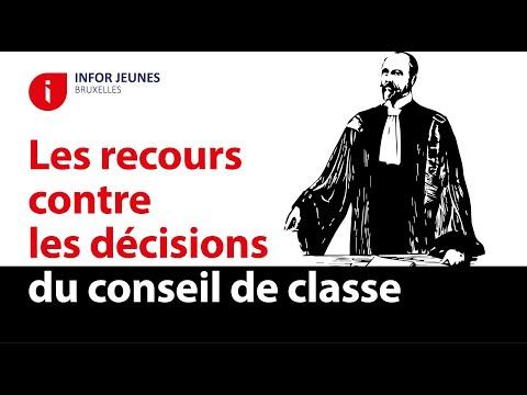 Le Recours Contre Une Decision Du Conseil De Classe Bruxelles J