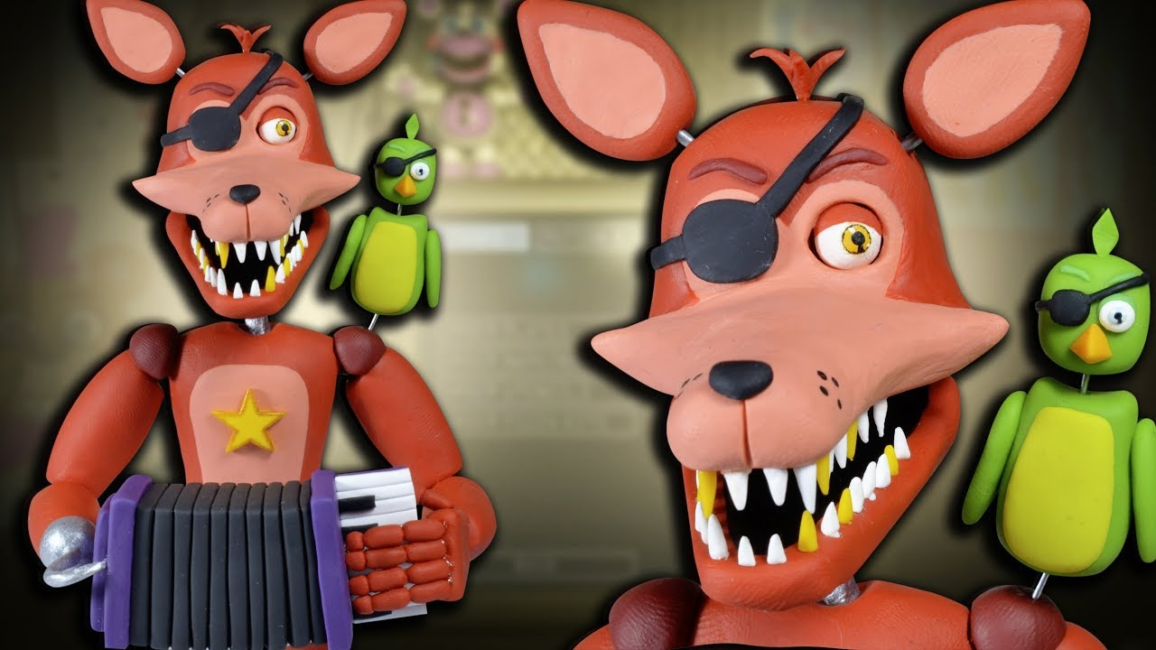 How to make ROCKSTAR FOXY ★ FNAF 6 (Freddy Fazbear's Pizzeria Simulator) ➤  Tutorial ✔ Polymer clay
