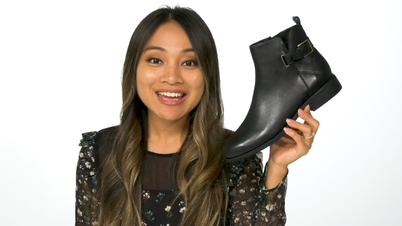 Details about  /Cole Haan Women/'s Hollyn Bootie Ankle Boot Black Leather