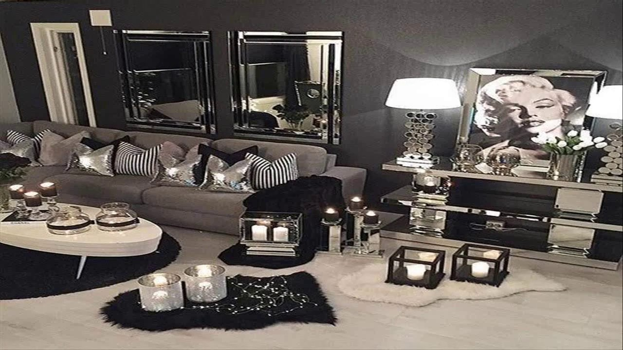 Black And Silver Bedroom Design Ideas - YouTube