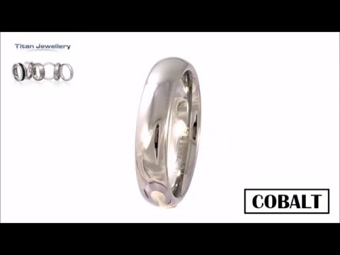 Men's 5mm Polished Court Cobalt Wedding Ring