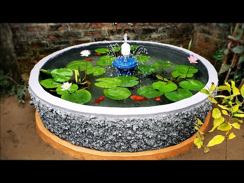 How to Build A Beautiful Waterfall Aquarium Very Easy - For Your Family Garden