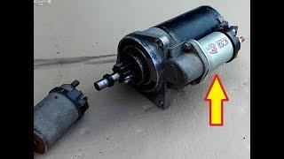 Замена втягивающего реле стартера.Ваз щелкает при заводке, СТАРТЁР  не работает.  В чём причина?