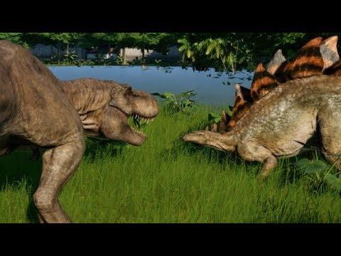 Stegosaurus vs T-Rex, Indominus Rex, Spinosaurus, Giganotosaurus & Allosaurus (1080p 60FPS) letöltés