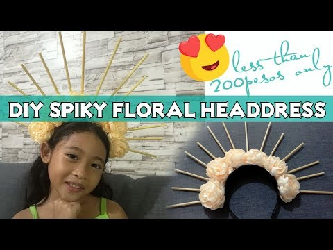 DIY Spiky Floral Headdress