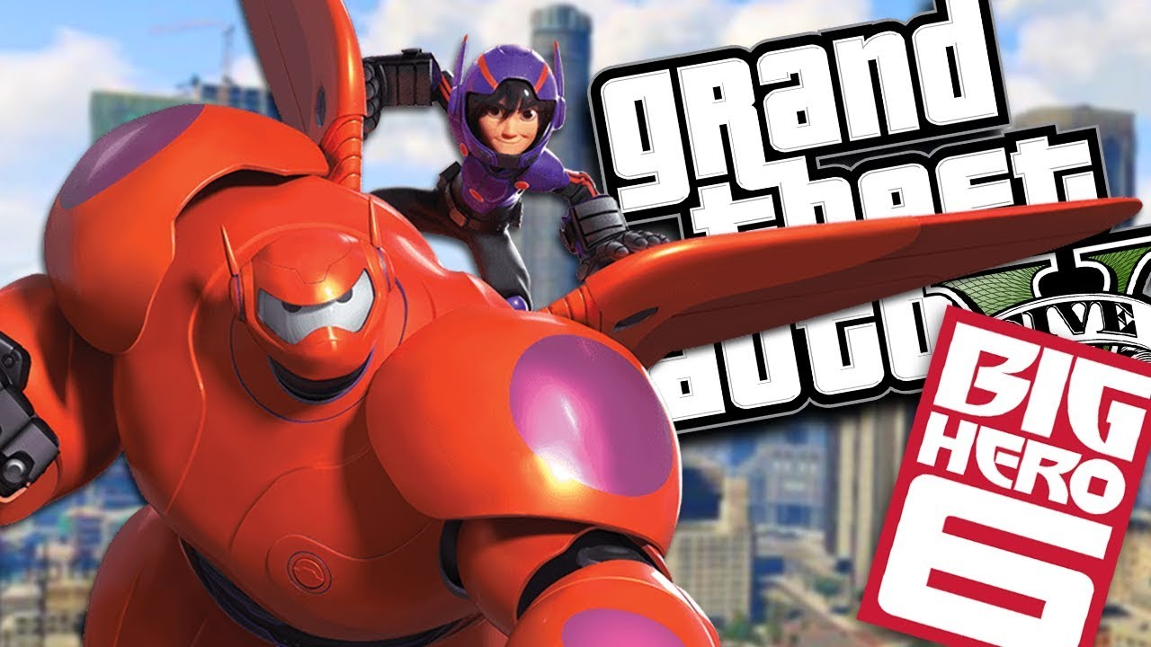 "BIG HERO 6 ""BAYMAX"" SAVES HIRO MOD w/ SUPER POWERS (GTA 5 PC Mods Gameplay)"