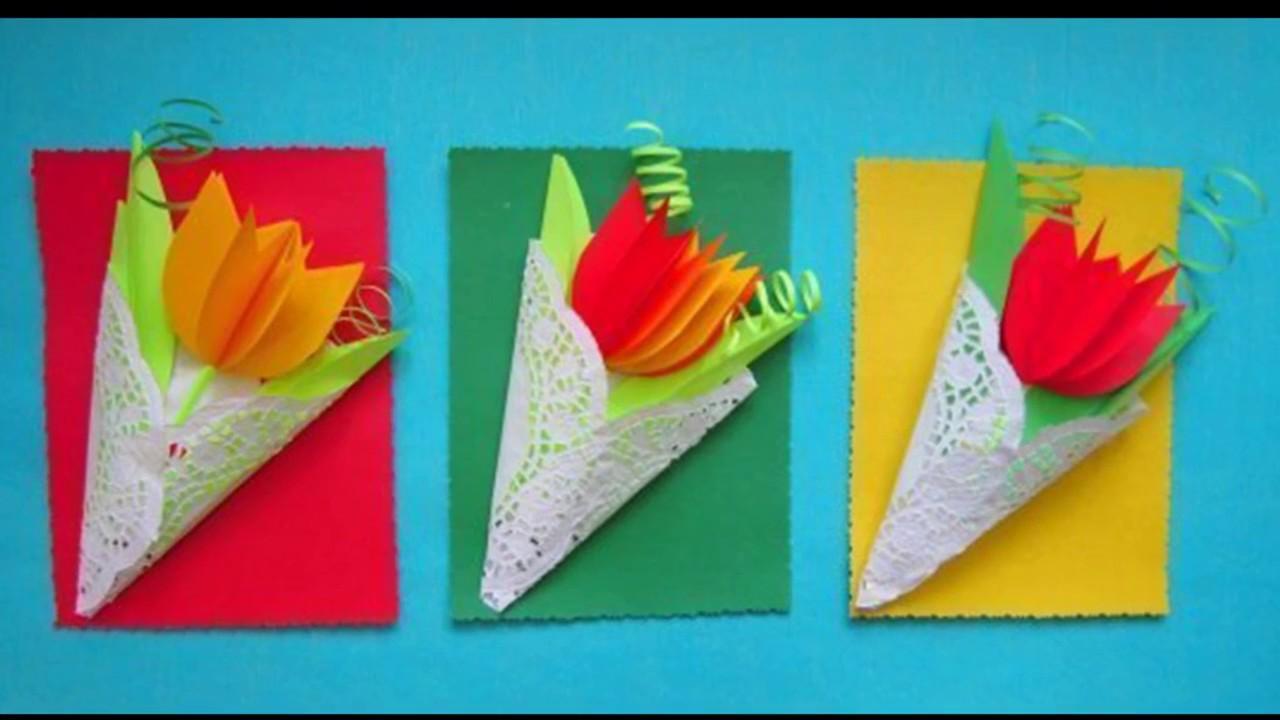 Днем, тюльпан открытка из бумаги