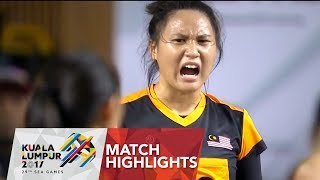 Highlights Netball Final Malaysia 🇲🇾 vs 🇸🇬 Singapore | 29th SEA Games 2017