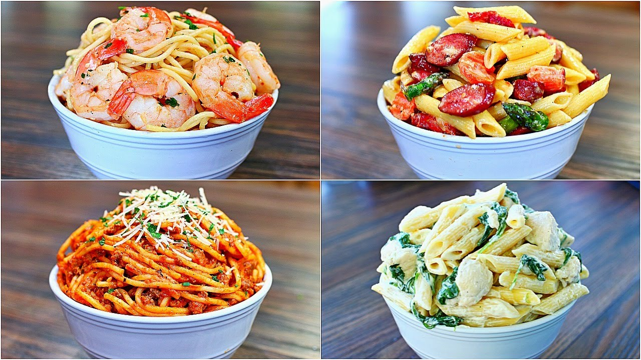 4 Great Pasta Recipes Easy And Delicious Pasta Dinner Recipes