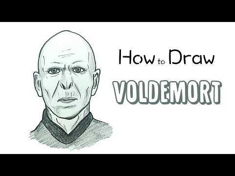 How To Draw Lord Voldemort From Harry Potter Youtube