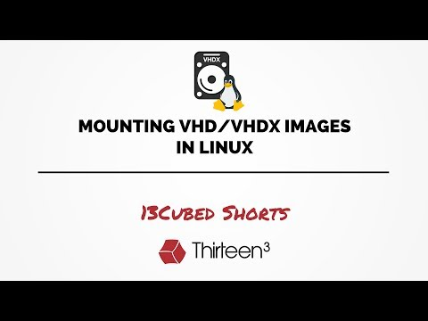 Mounting VHD/VHDX Images in Linux - YouTube