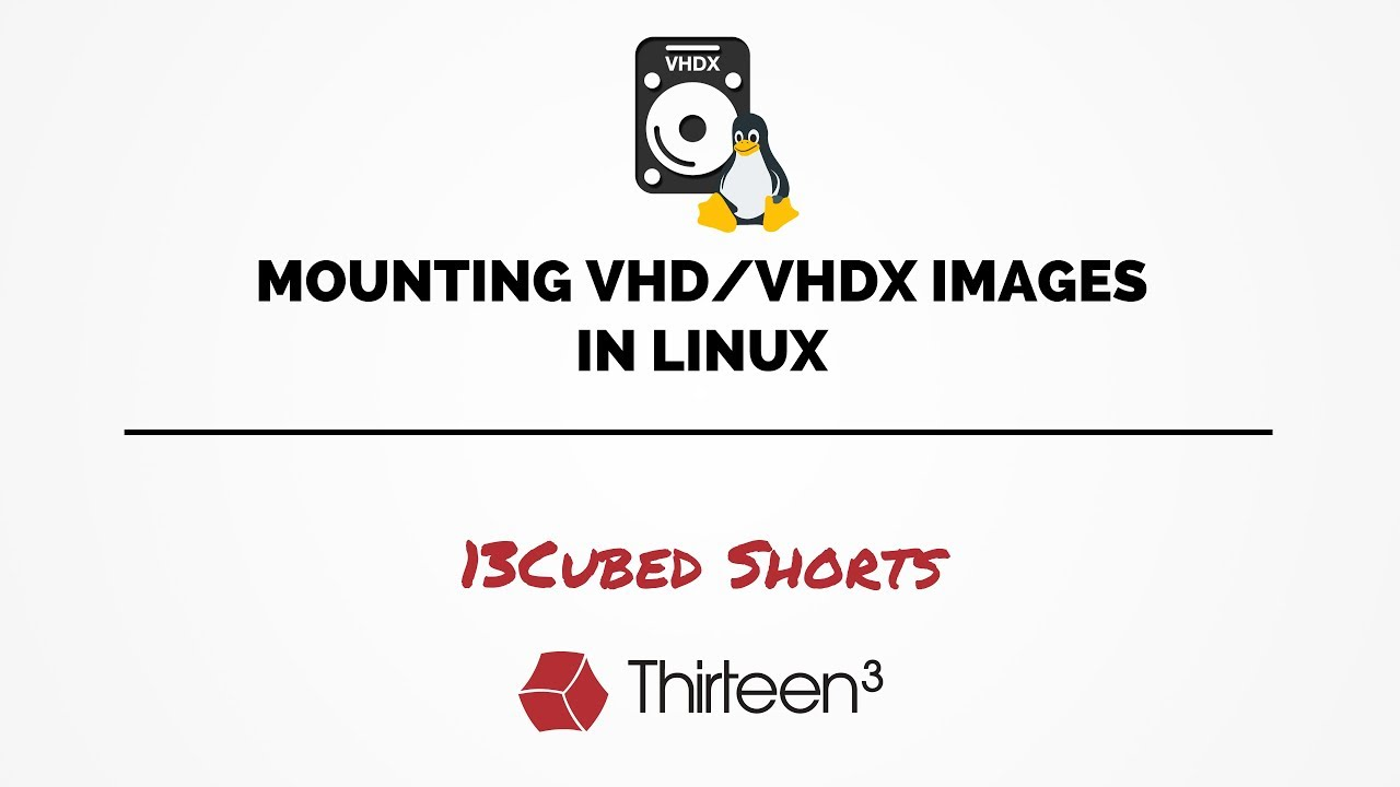 Mounting VHD/VHDX Images in Linux