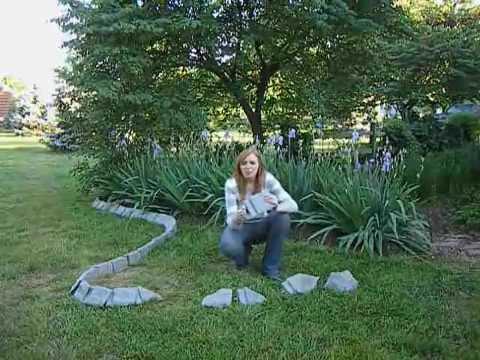 Decorative Stone Landscape Edging By Yardproduct Com Youtube
