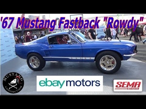 Ebay Motors Custom 1967 Mustang Fastback Rowdy Auctioned Off To Support Juvenile Diabetes Youtube