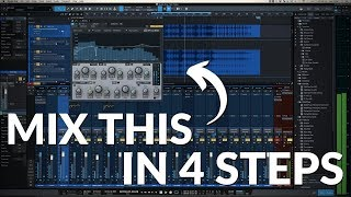 Studio One Minute: My 4 Step Mix Process