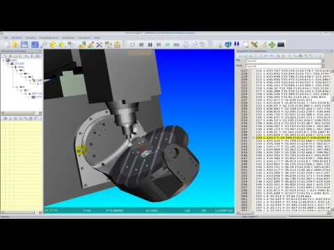 CAMWorks 5 ejes + Virtual Machine Simulation