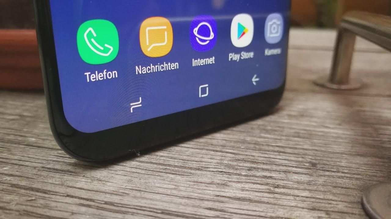 Samsung Galaxy S8 Plus Software Rundgang Kamera Iris Scanner Home Button Personalisierung